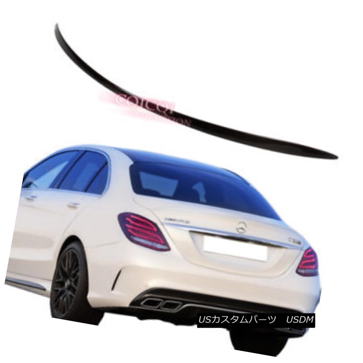 エアロパーツ Carbon Fiber MERCEDES BENZ 15~17 W205 C class Sedan OEM type trunk spoiler ◎ 炭素繊維MERCEDES BENZ 15?17 W205 CクラスセダンOEMタイプのトランク・スポイラー?