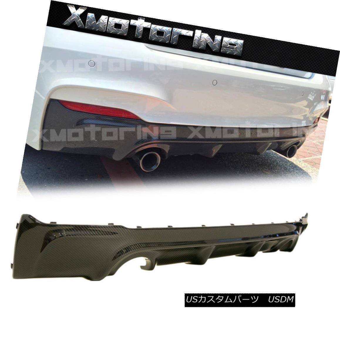 エアロパーツ 3D Look Exchange Carbon Rear Diffuser For 14+ F22 220i 228i M235i M-Tech Bumper 3Dルックエクスチェンジカーボンリアディフューザー14+ F22用220i 228i M235i M-Techバンパー