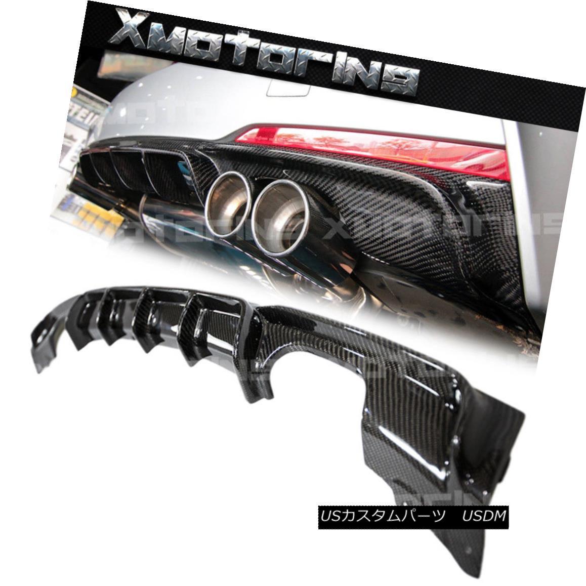 エアロパーツ P Type Carbon Fiber Exchange Diffuser Fit 12-15 F30 328i 335i 4DR M-Sport Bumper Pタイプ炭素繊維交換ディフューザーフィット12-15 F30 328i 335i 4DR M-スポーツバンパー
