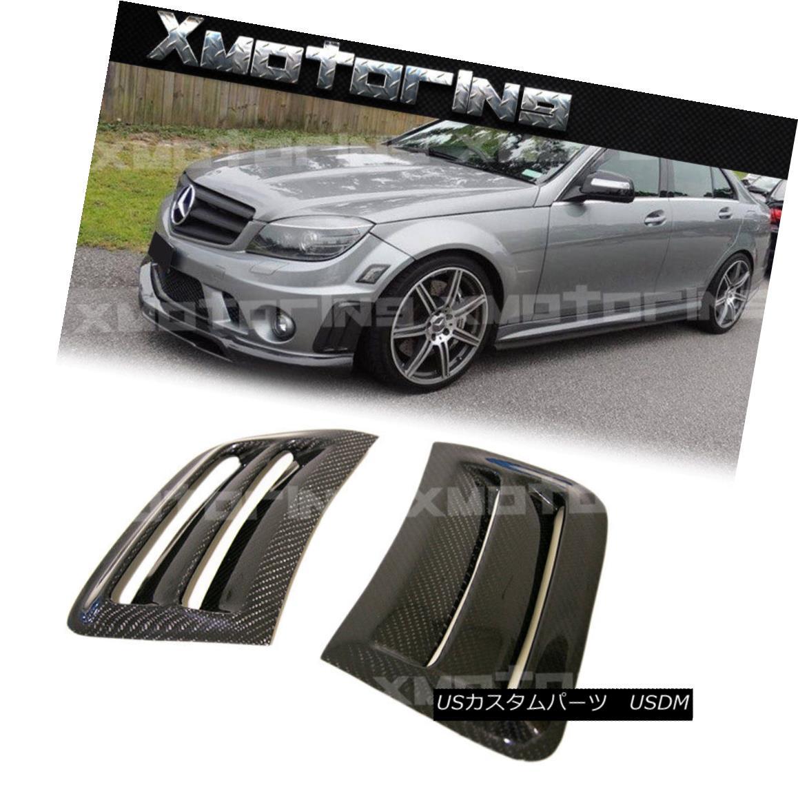 エアロパーツ Bumper Carbon Fiber Air Vent Induct 2 Side Cover For W204 C204 BENZ 08-11 C63AMG バンパー・カーボン・ファイバーエアー・ベント・インダクター2サイド・カバーW204 C204用BENZ 08-11 C63AMG