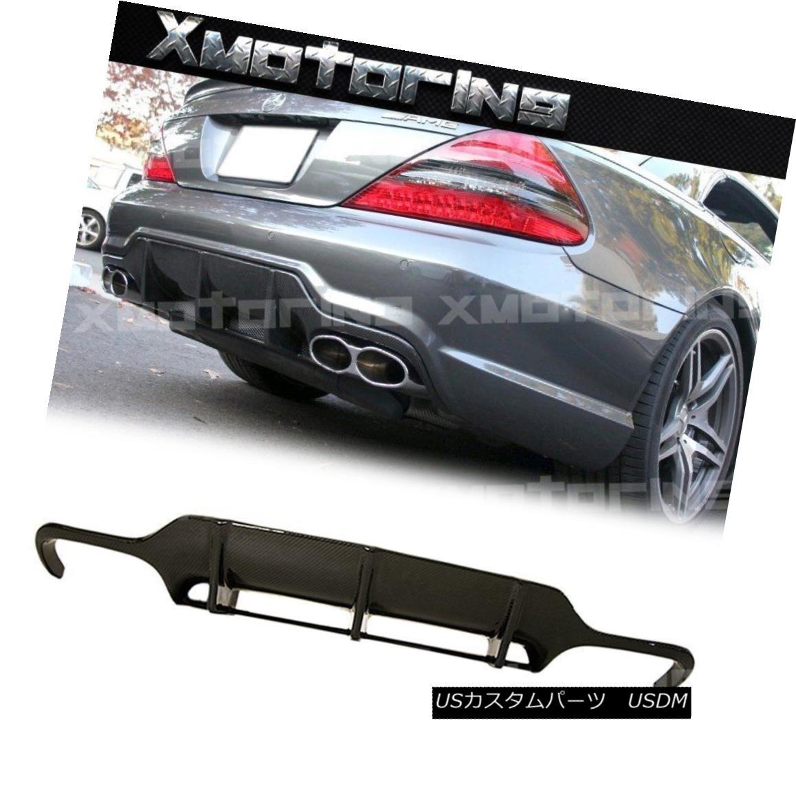 エアロパーツ For 2009-2012 BENZ R230 SL63 AMG Rear Bumper Replaced Lip Carbon Fiber Diffuser 2009-2012ベンツR230 SL63 AMGリアバンパーリップカーボンファイバーディフューザー