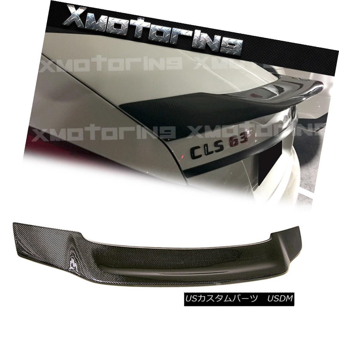 エアロパーツ For 11-15 BENZ W218 CLS350 CLS500 CLS63 4DR RT Style Carbon Fiber Trunk Spoiler 11-15ベンツW218 CLS350 CLS500 CLS63 4DR RTスタイルカーボンファイバートランク・スポイラー