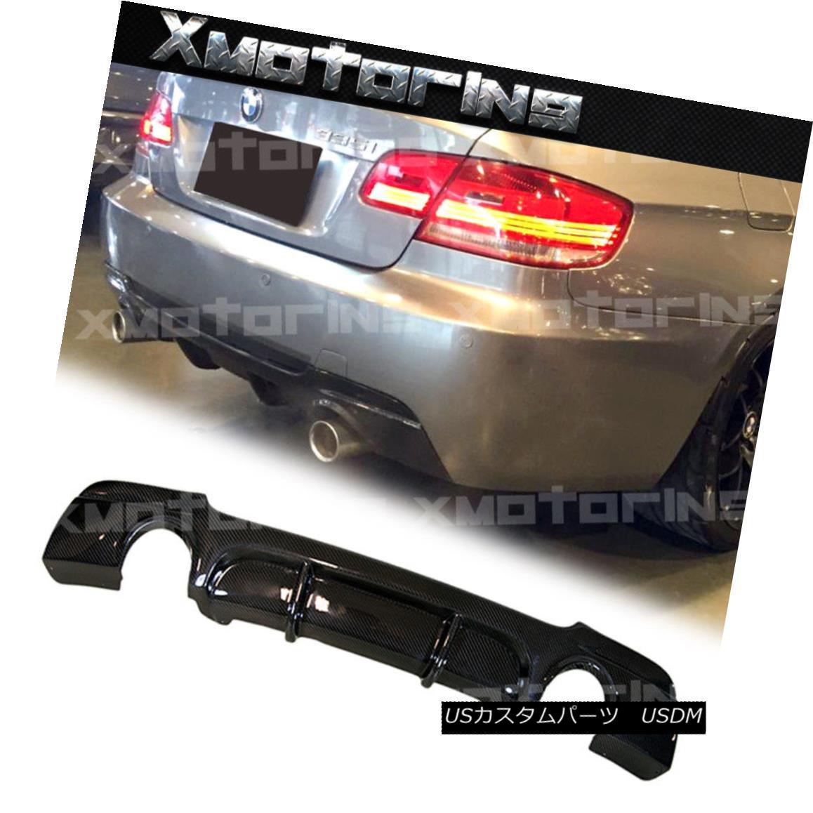 エアロパーツ For BMW 07-13 E92 E93 328i 325i M-Tech Bumper P Type Carbon Fiber Rear Diffuser BMW 07-13 E92 E93 328i 325i M-TechバンパーPタイプカーボンファイバーリアディフューザー