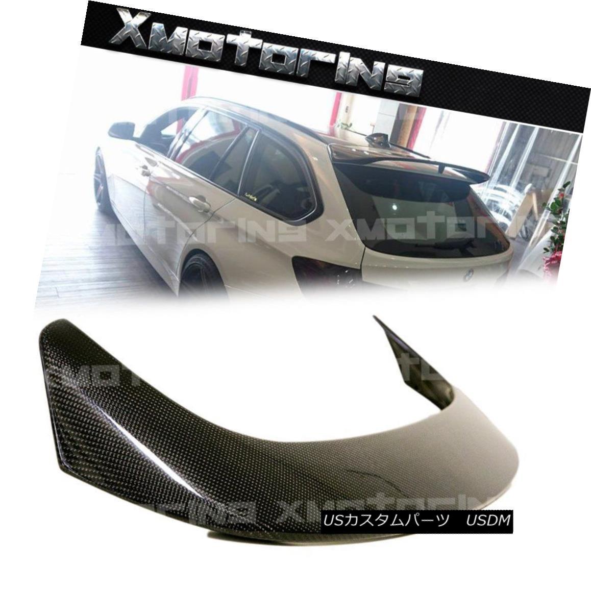 エアロパーツ P Style Carbon Fiber Window Roof Spoiler 2013-17 For BMW F31 3-Series Wagon 5DR Pスタイルカーボンファイバーウインドルーフスポイラー2013-17 BMW F31用3シリーズワゴン5DR用