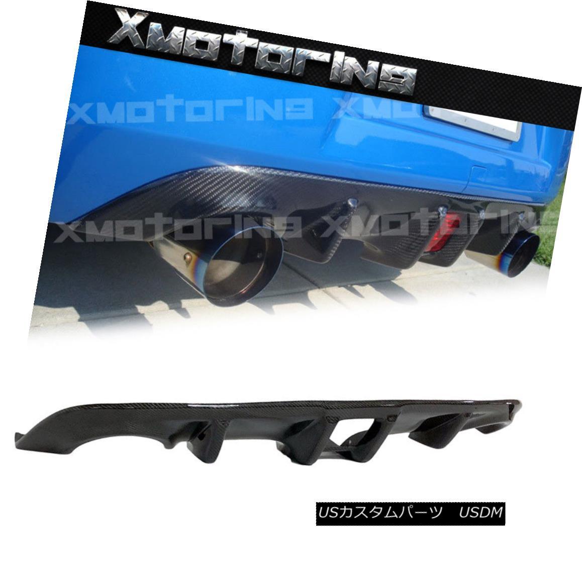 エアロパーツ Carbon Fiber Rear Bumper Diffuser Fit On 10-17 Nissan 370Z Fairlady Z34 2DoR Use 炭素繊維リアバンパーディフューザーフィット10-17日産370ZフェアレディZ34 2DoR使用
