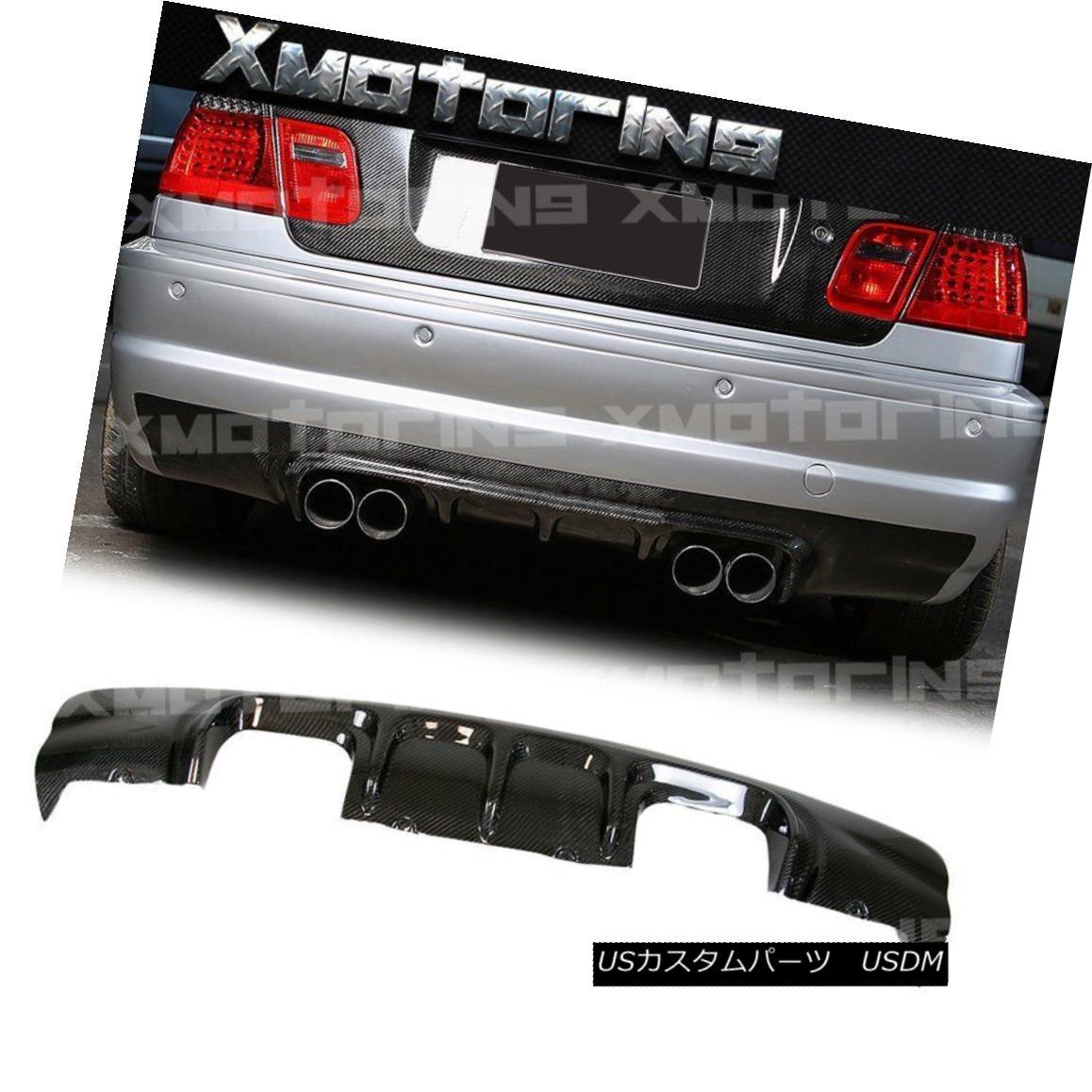エアロパーツ V Look Carbon Fiber Rear Replaced Diffuser For 01-06 BMW E46 Coupe 2DR M3 Bumper Vルックカーボンファイバーリアディフューザーを01-06に交換BMW E46クーペ2DR M3バンパー