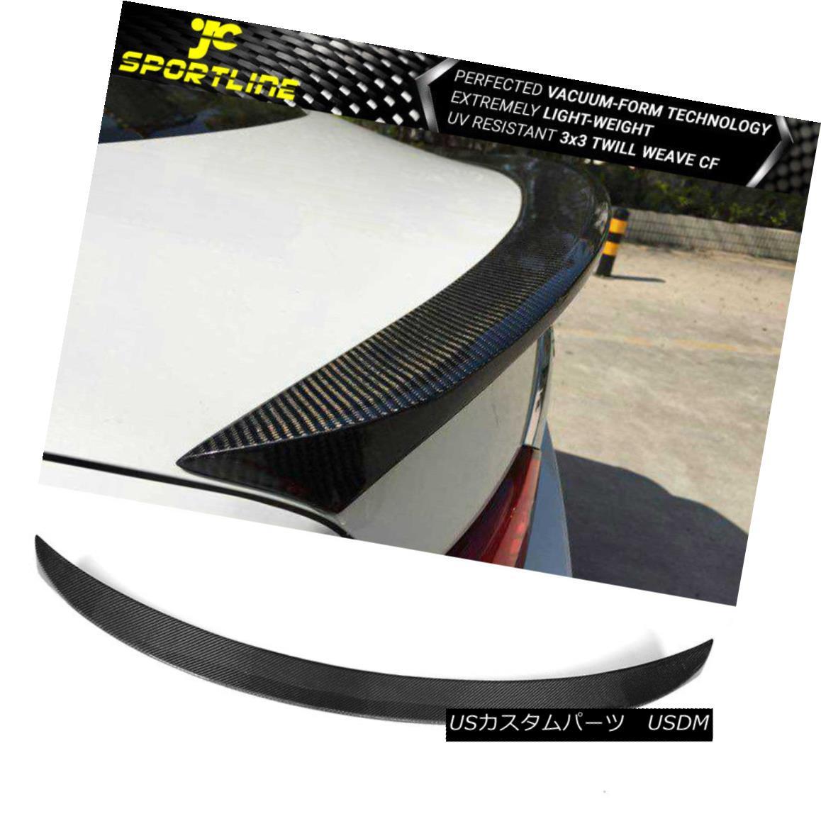 エアロパーツ Fits 14-18 Infiniti Q50 All Trunk Spoiler Wing Full Carbon Fiber CF フィット14-18 Infiniti Q50すべてのトランク・スポイラー・ウィング・フル・カーボン・ファイバーCF