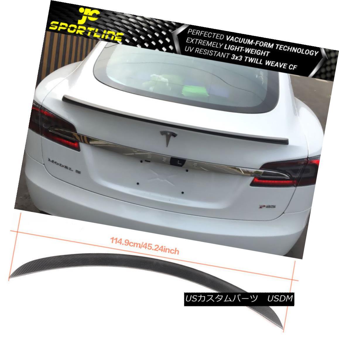 エアロパーツ Fits 12-17 Tesla Model S OE Factory Style Trunk Spoiler Full Matte Carbon Fiber 12-17 Tesla Model S OE工場スタイルのトランク・スポイラーフル・マット・カーボン・ファイバーに適合