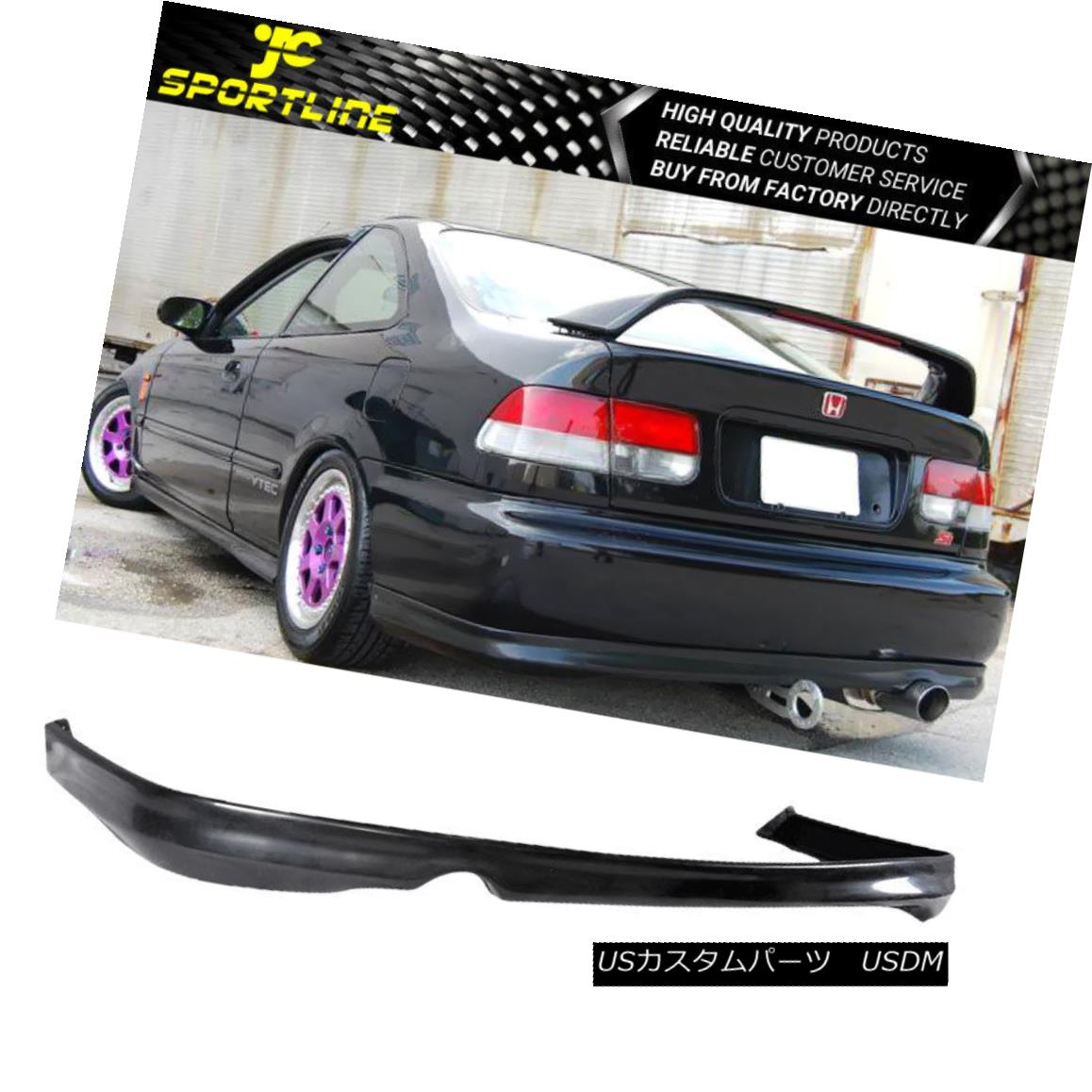 エアロパーツ For Honda Civic 2Dr 4Dr 1999 2000 T-R Style Black Rear Bumper Lip Honda Civic 2Dr 4Dr 1999 2000 T-Rスタイルブラックリアバンパーリップ