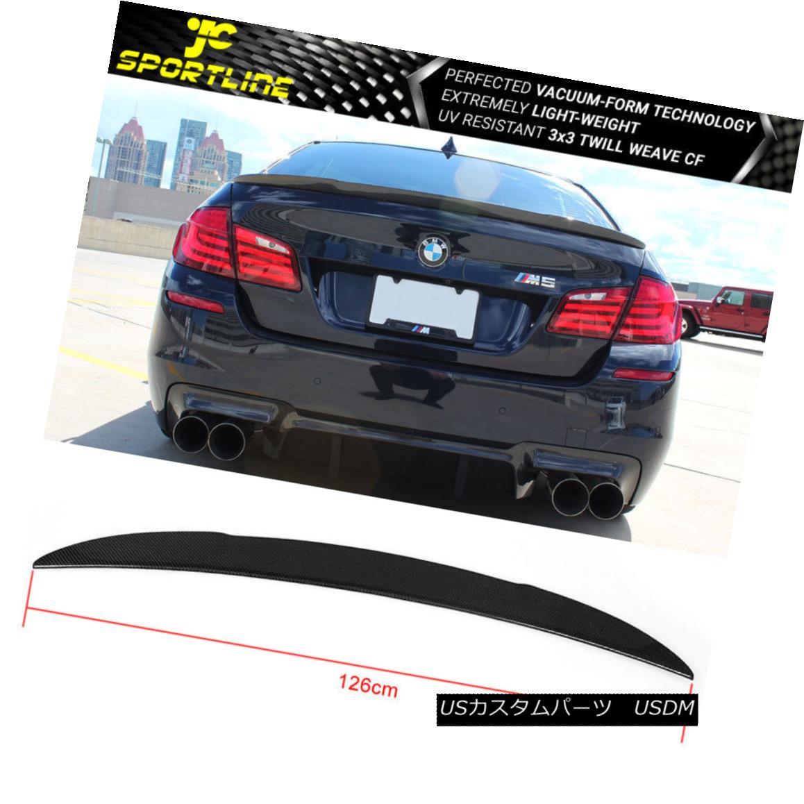 エアロパーツ Fits 11-16 BMW 5 Series F10 & M5 AK Style Trunk Spoiler Carbon Fiber CF フィット11-16 BMW 5シリーズF10& M5 AKスタイルトランクスポイラー炭素繊維CF