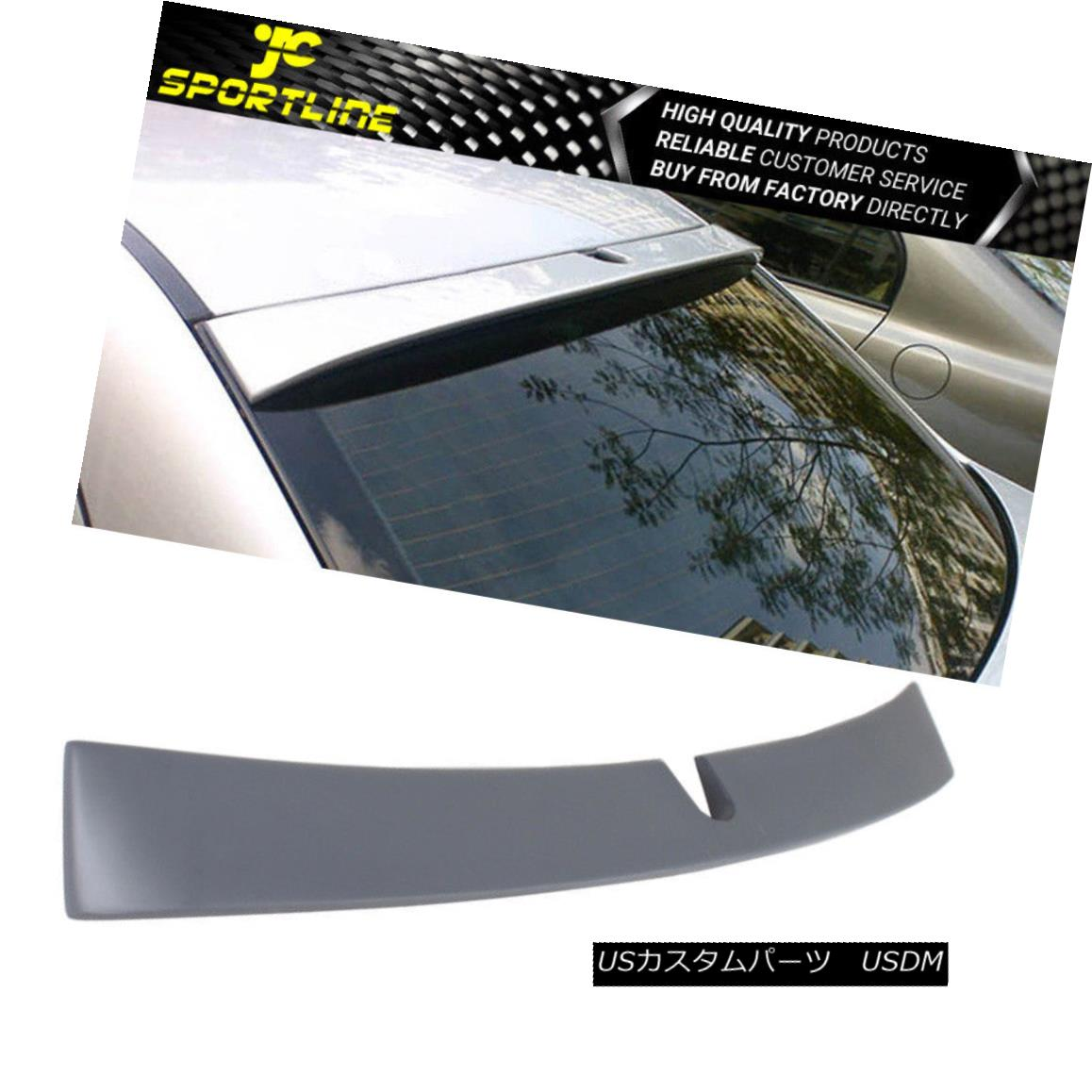 エアロパーツ Fits 01-07 Benz C-Class W203 Sedan AMG Polyurethane PU Roof Spoiler Wing フィット01-07ベンツCクラスW203セダンAMGポリウレタンPUルーフスポイラーウイング