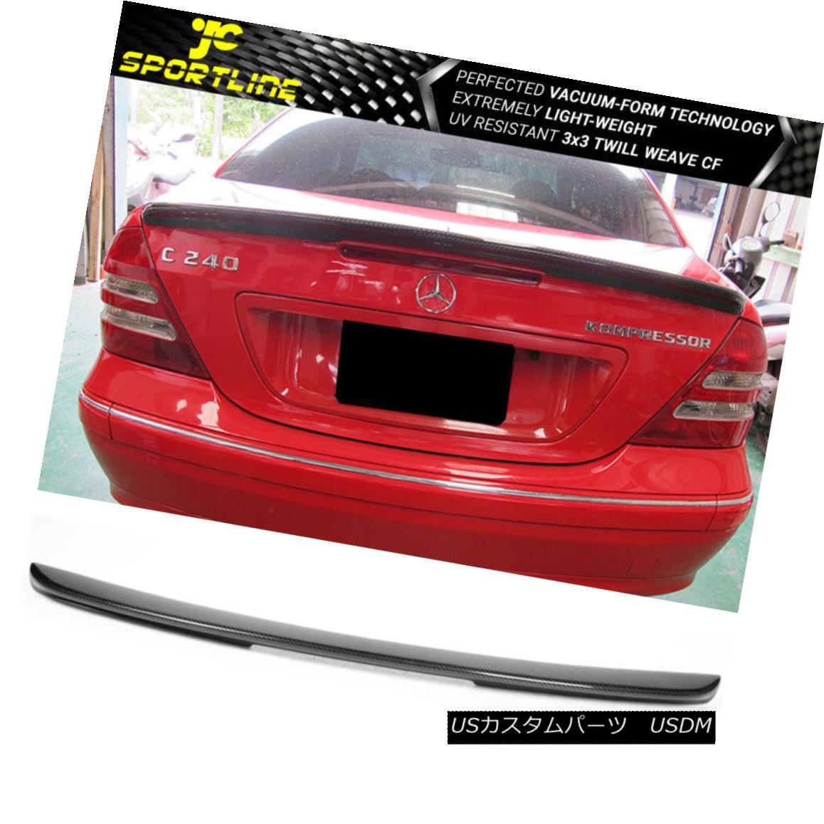 エアロパーツ Fits 01-07 Benz C-Class W203 Sedan AMG Carbon Fiber Trunk Spoiler Wing フィット01-07ベンツCクラスW203セダンAMGカーボンファイバートランクスポイラーウィング