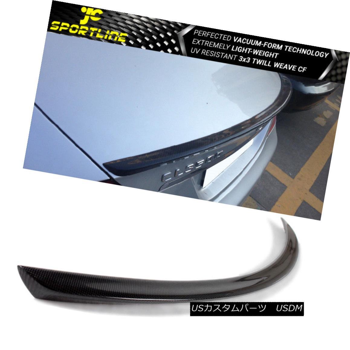エアロパーツ Fits 06-10 Mercedes W219 CLS300 CLS350 CLS63 AMG Sedan 4-Door Trunk Spoiler CF 適合06-10メルセデスW219 CLS300 CLS350 CLS63 AMGセダン4ドアトランク・スポイラーCF