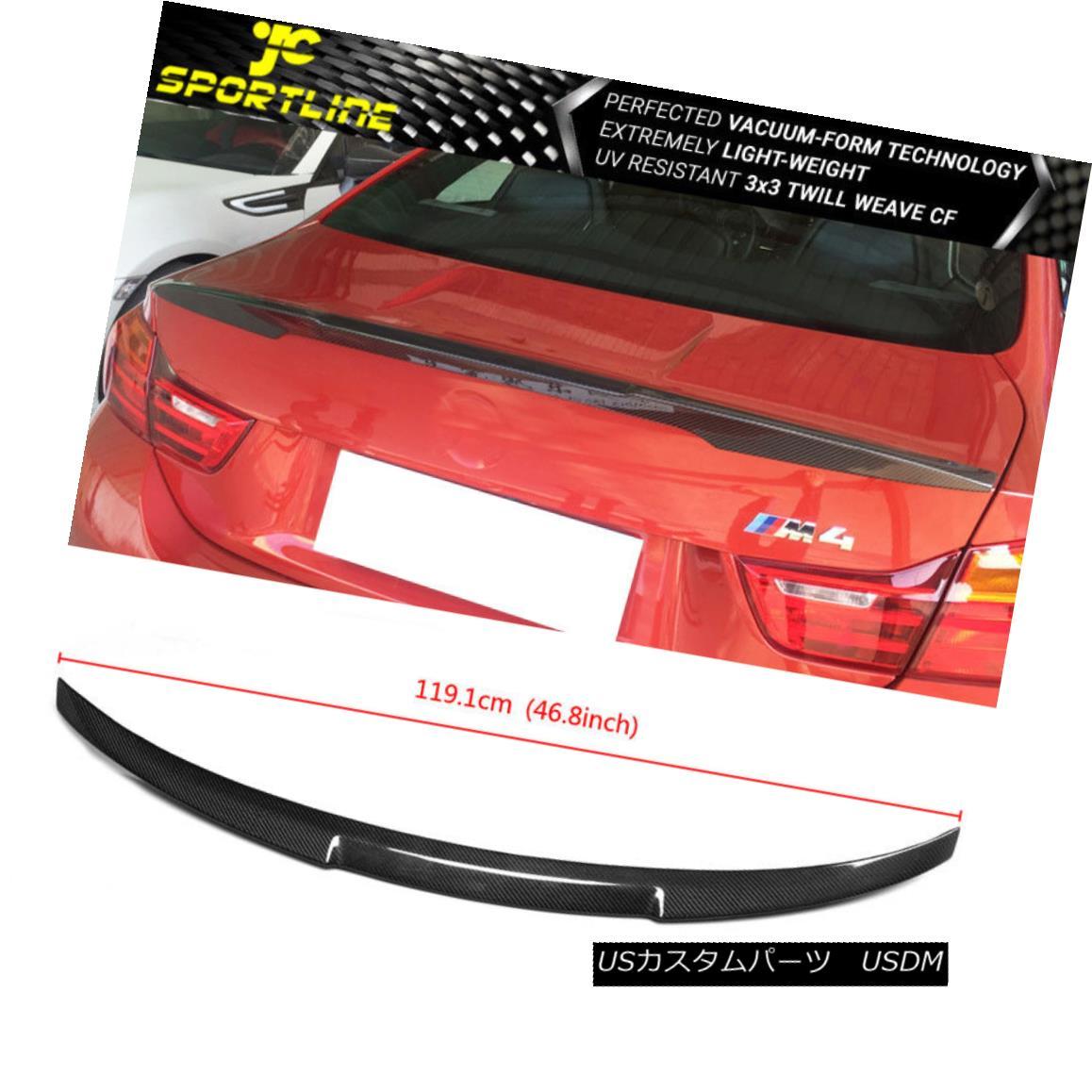 エアロパーツ Fits 14-18 BMW M4 F82 Trunk Spoiler Carbon Fiber CF フィット14-18 BMW M4 F82トランクスポイラー炭素繊維CF