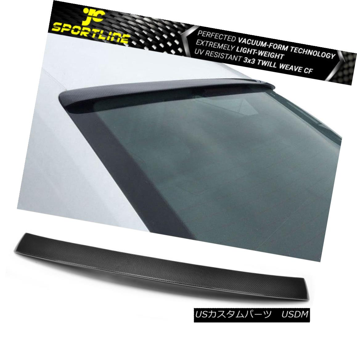 エアロパーツ Fits 08-16 Audi A5 Sportback Carbon Fiber Rear Roof Spoiler Wing フィット08-16アウディA5スポーツバックカーボンファイバーリアルーフスポイラーウィング