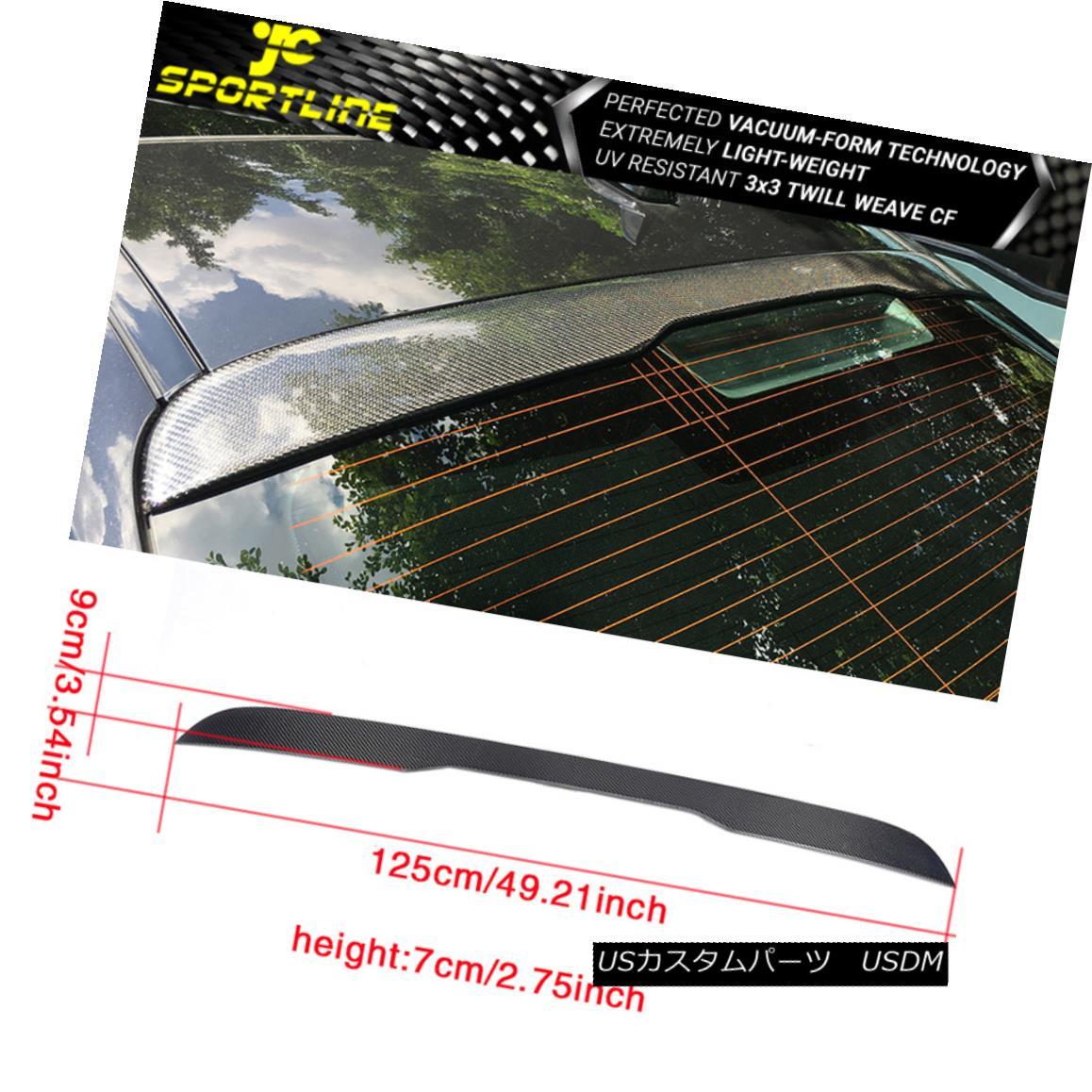 エアロパーツ Fits 14-18 Mercedes-Benz W222 S400 S65 AMG Rear Roof Spoiler Wing Carbon Fiber フィット14-18メルセデスベンツW222 S400 S65 AMGリアルーフスポイラーウィングカーボンファイバー