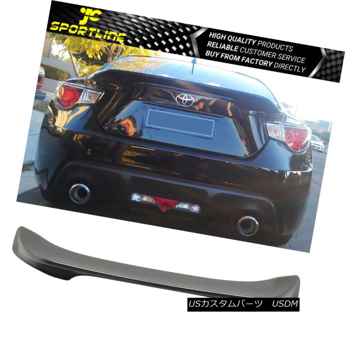 エアロパーツ Fits 13-17 Scion FRS Subaru BRZ TR-D Style Trunk Rear Wing Spoiler Acrylic フィット13-17サイオンFRSスバルBRZ TRDスタイルトランクリアウィングスポイラーアクリル