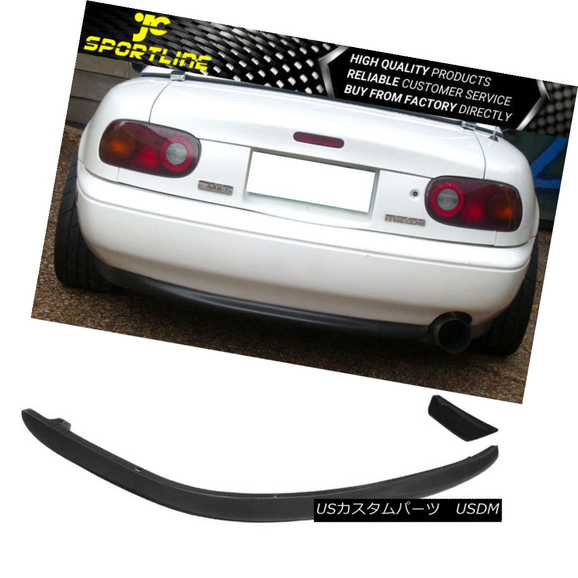 エアロパーツ Fit 1990-1997 Mazda Miata RS Style Poly Urethane Rear Bumper Lip Spoiler Bodykit Fit 1990-1997 Mazda Miata RSスタイルポリウレタンリアバンパーリップスポイラーボディキット