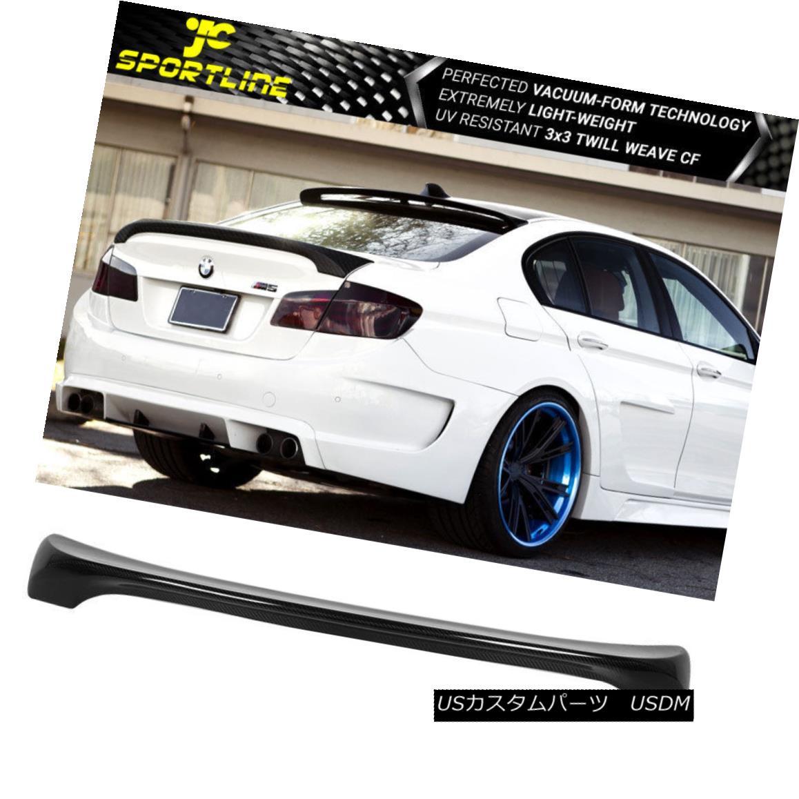 エアロパーツ Fits 11-16 BMW 5 Series F10 & M5 H Style Trunk Spoiler Carbon Fiber CF フィット11-16 BMW 5シリーズF10& M5 Hスタイルトランクスポイラー炭素繊維CF