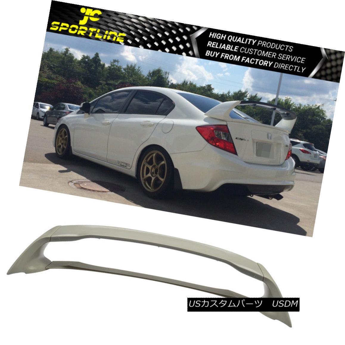 エアロパーツ Fits 2012-2015 Honda Civic 4Dr MUG Style Trunk Spoiler Unpainted 4Pcs 2012-2015 Honda Civic 4Dr MUGスタイルトランク・スポイラー未塗装4個入り
