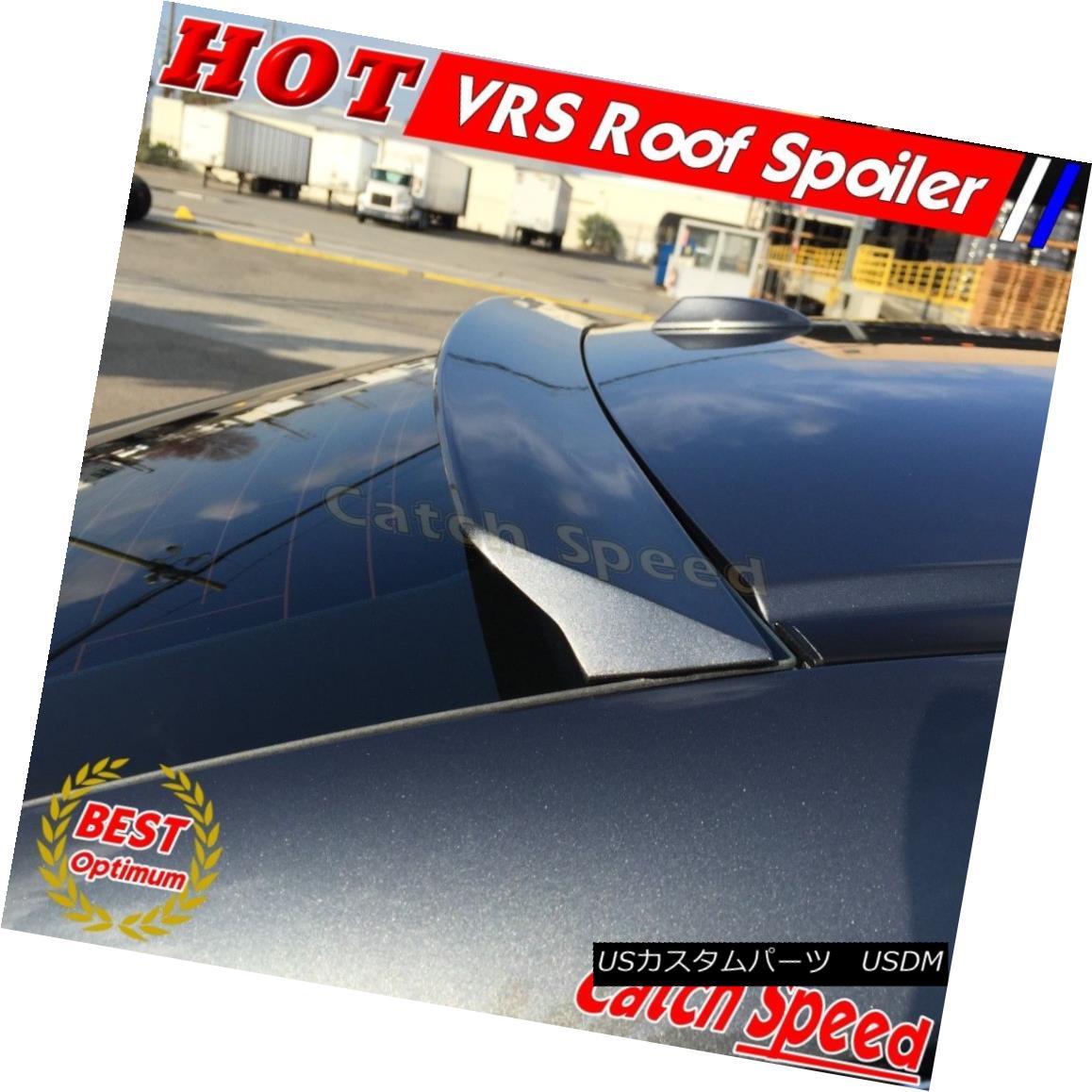 エアロパーツ Flat Black VRS Style Rear Roof Spoiler Wing For Cadillac ATS Sedan 2013-2015 キャデラックATSセダン2013-2015のフラットブラックVRSスタイルリアルーフスポイラーウィング