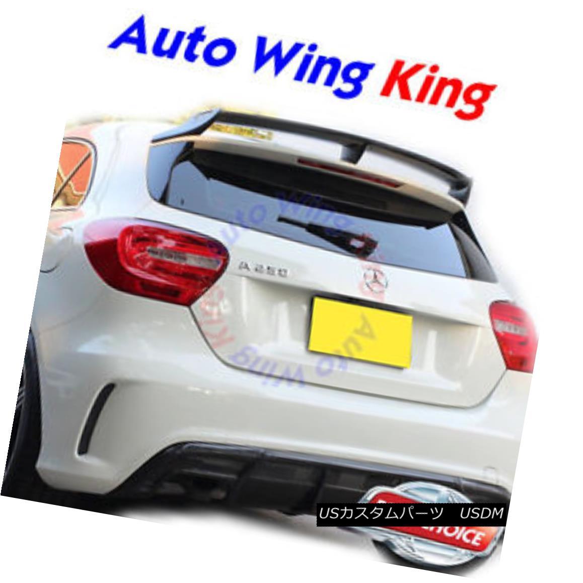 エアロパーツ Unpainted Rear Trunk Spoiler Wing For Mercedes-Benz W176 A-Class A250 A45 AMG ? メルセデス・ベンツW176 AクラスA250 A45 AMGの未塗装の後部トランク・スポイラー・ウィング?