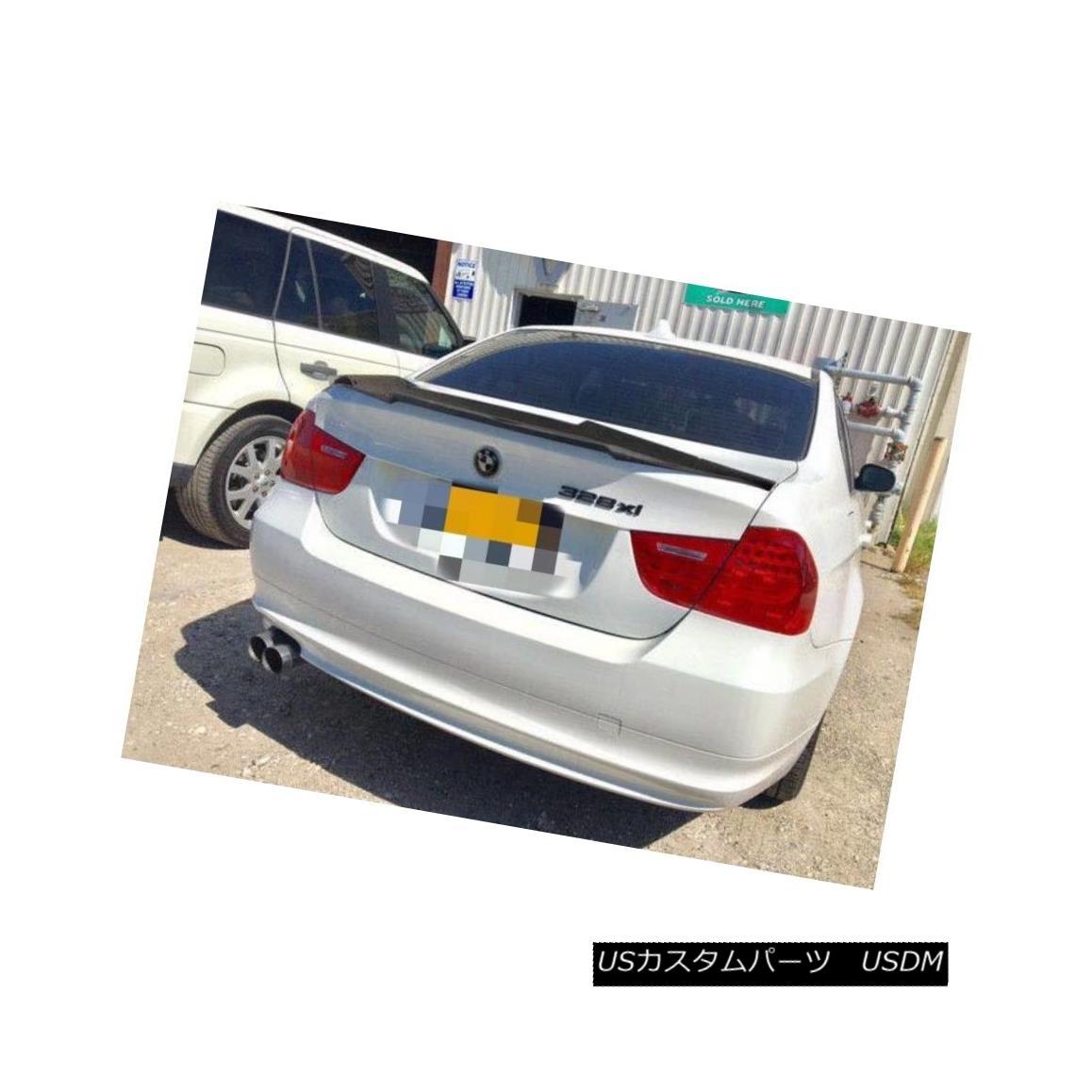 エアロパーツ M4 Look Carbon Fiber Rear Trunk Spoiler Wing For 2006-11 Sedan BMW E90 3-Series M4ルックカーボンファイバーリアトランク・スポイラー・ウィング2006-11セダンBMW E90 3シリーズ
