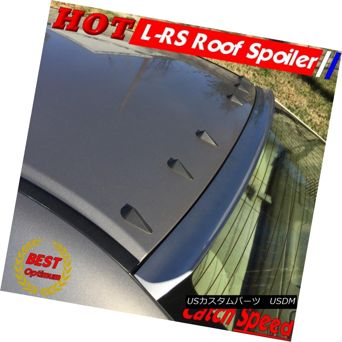 エアロパーツ Flat Black LRS Rear Roof Spoiler Wing For Honda CIVIC Insight Hatchback 2010-14? Honda CIVIC Insight Hatchback 2010-14のフラットブラックLRSリアルーフスポイラーウィング?