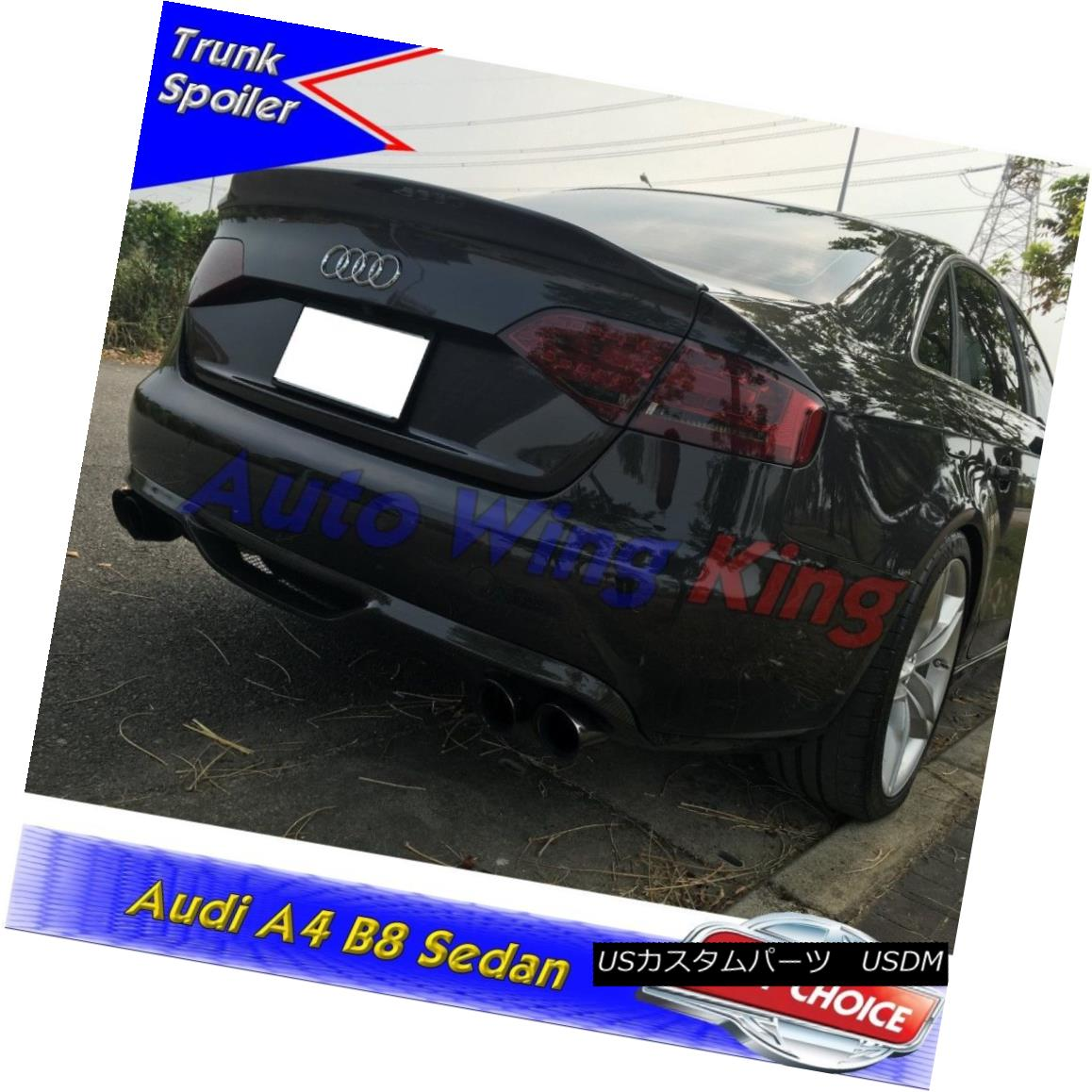 エアロパーツ PAINTED ABS C STYLE REAR TRUNK SPOILER WING FOR 2009~2011 AUDI A4 B8 SEDAN ? 塗装ABS Cスタイルリアトゥインクスポイラーウイング2009?2011 AUDI A4 B8 SEDAN?