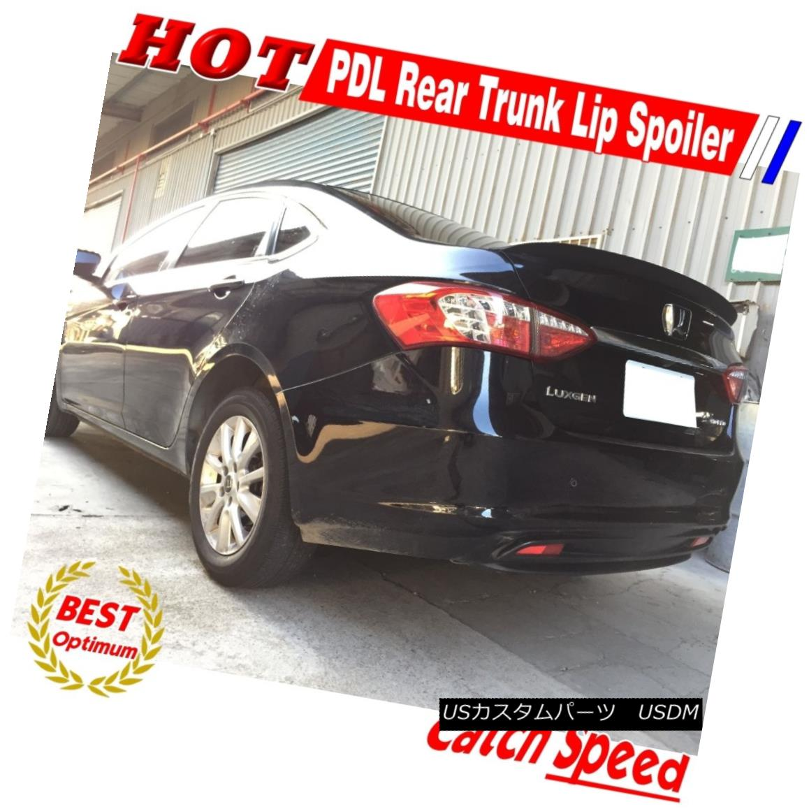 エアロパーツ Flat Black P Style Rear Trunk Lip Spoiler Wing For Honda Accord Coupe 2008-12 ホンダアコードクーペのフラットブラックPスタイルリアトランクリップスポイラーウイング