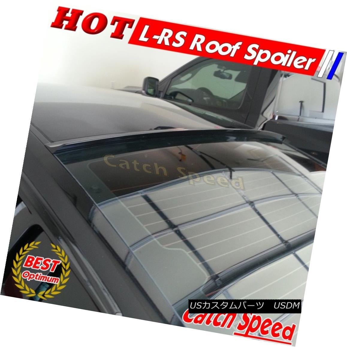 エアロパーツ Flat Black LRS Type Rear Roof Spoiler Wing For Pontiac G5 Sedan 2007-2010 ? Pontiac G5 Sedan 2007-2010用フラットブラックLRSタイプリアルーフスポイラーウイング?