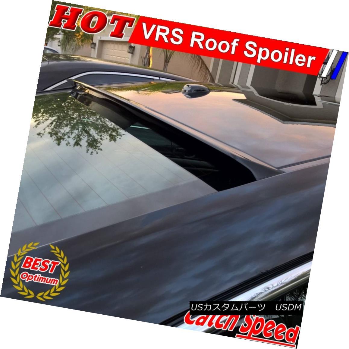 エアロパーツ Flat Black VRS Rear Roof Spoiler Wing For Dodge SRT-4 Sedan 2003 2004 2005 ドッジSRT-4セダン用フラットブラックVRSリアルーフスポイラーウイング2003 2004 2005