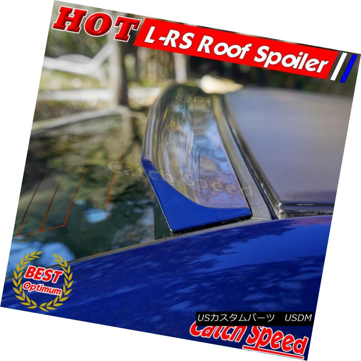 エアロパーツ Flat Black LRS Rear Roof Spoiler Wing For Dodge Neon SRT-4 Sedan 2003-2005 ? ダッジネオンSRT - 4セダン2003-2005のフラットブラックLRSリア屋根スポイラーウィング?