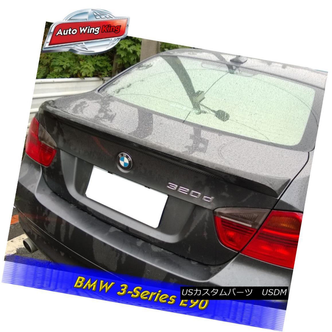 エアロパーツ Carbon Fiber M Type Rear Trunk Spoiler Wing For 2006-2011 BMW E90 3-Series Sedan BMW E90 3シリーズセダン用カーボンファイバーMタイプリアトランク・スポイラー・ウィング