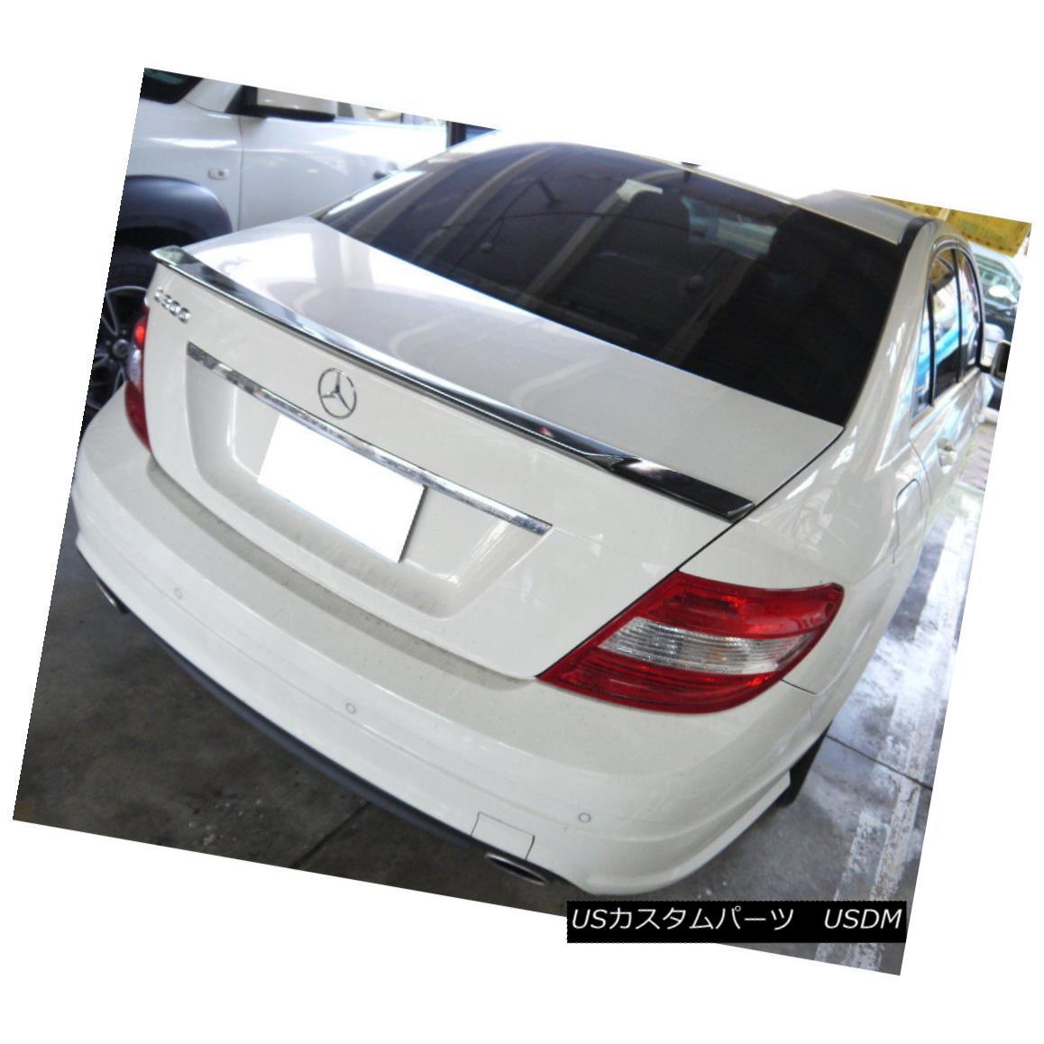 エアロパーツ Carbon Fiber V Look Rear Trunk Spoiler Wing For 08~13 Mercedes Benz C W204 Sedan カーボンファイバーVルーフリヤトランクスポイラーウイング08?13メルセデスベンツC W204セダン