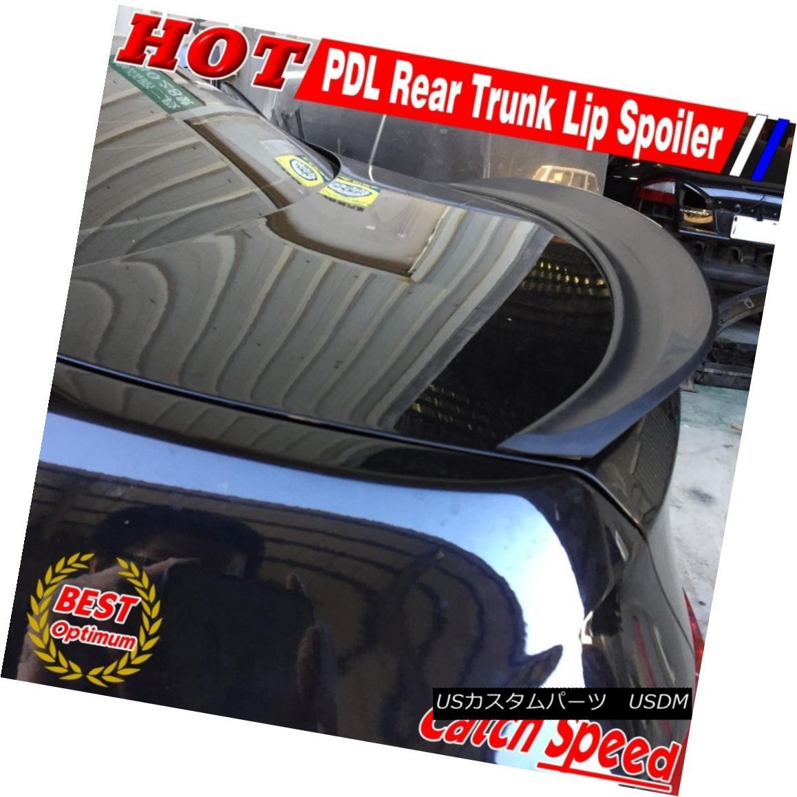 エアロパーツ Flat Black P Type Rear Trunk Lip Spoiler Wing For Volvo S80 Sedan 2007~2013 ボルボS80セダン用フラットブラックPタイプリアトランクリップスポイラーウイング2007?2013