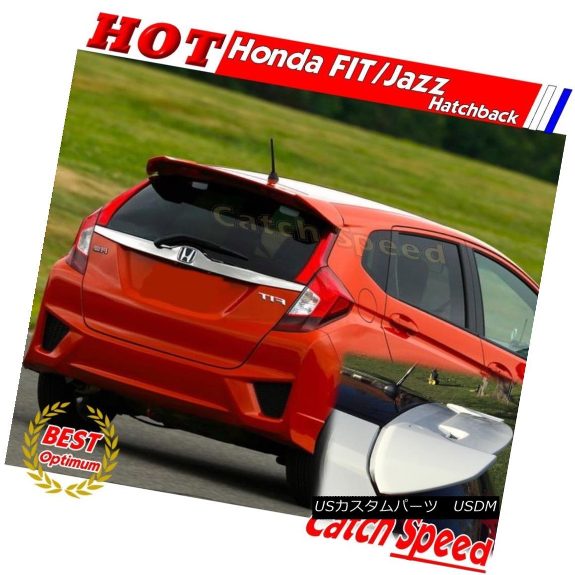 エアロパーツ Painted ABS RS Type Rear Roof Trunk Spoiler For Honda FIT JAZZ 2014~16 hatchback ホンダFIT JAZZ 2014?16ハッチバック用塗装ABS RSタイプリアルーフトランク・スポイラー