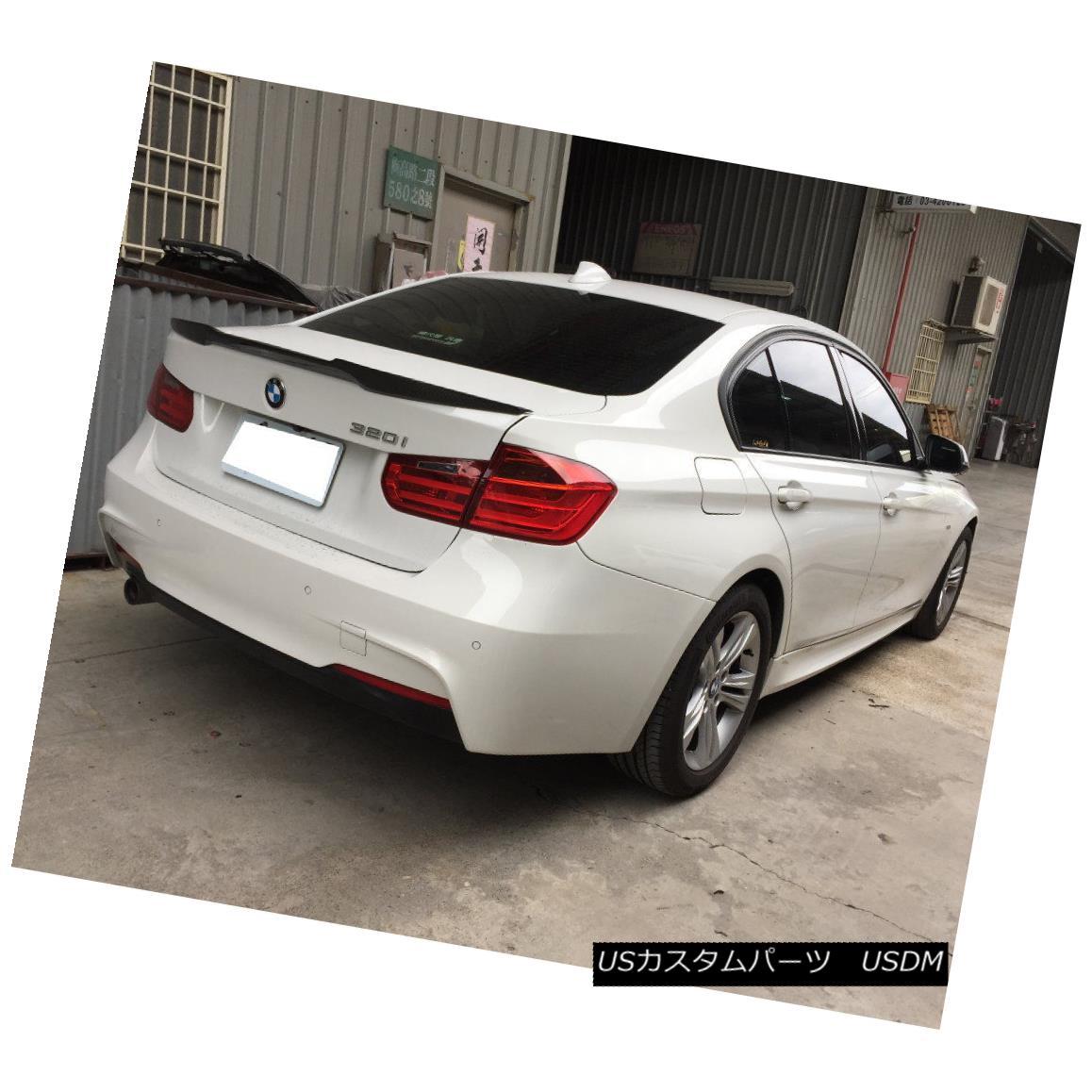 エアロパーツ Carbon Fiber V Type Rear Trunk Spoiler Wing For 12-17 BMW F30 F80 M3 Sedan 328i BMW F30 F80 M3セダン328i用カーボンファイバーVタイプリアトランクスポイラーウィング