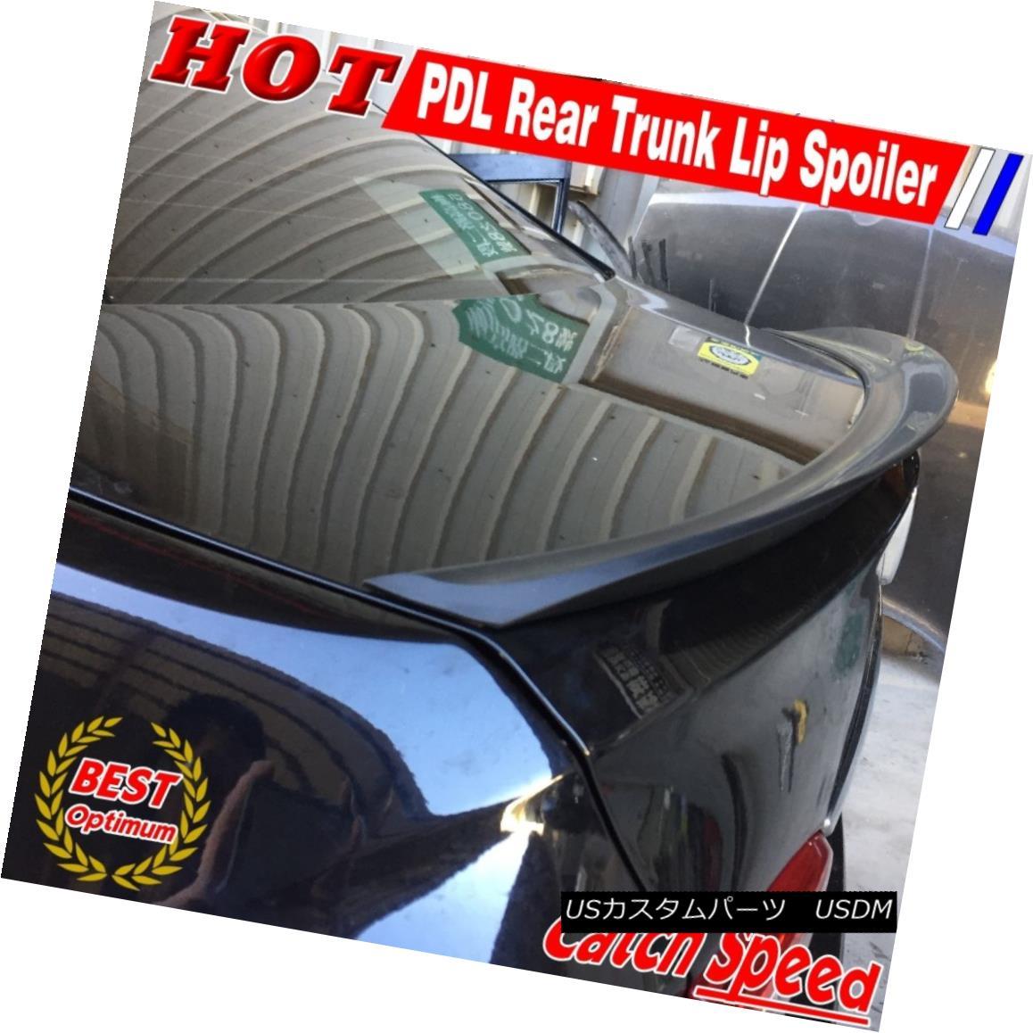 エアロパーツ Flat Black P Style Rear Trunk Lip Spoiler Wing For Honda Civic 2006-11 LX Coupe ホンダシビック用フラットブラックPスタイルリアトランクリップスポイラーウイング2006-11 LX Coupe
