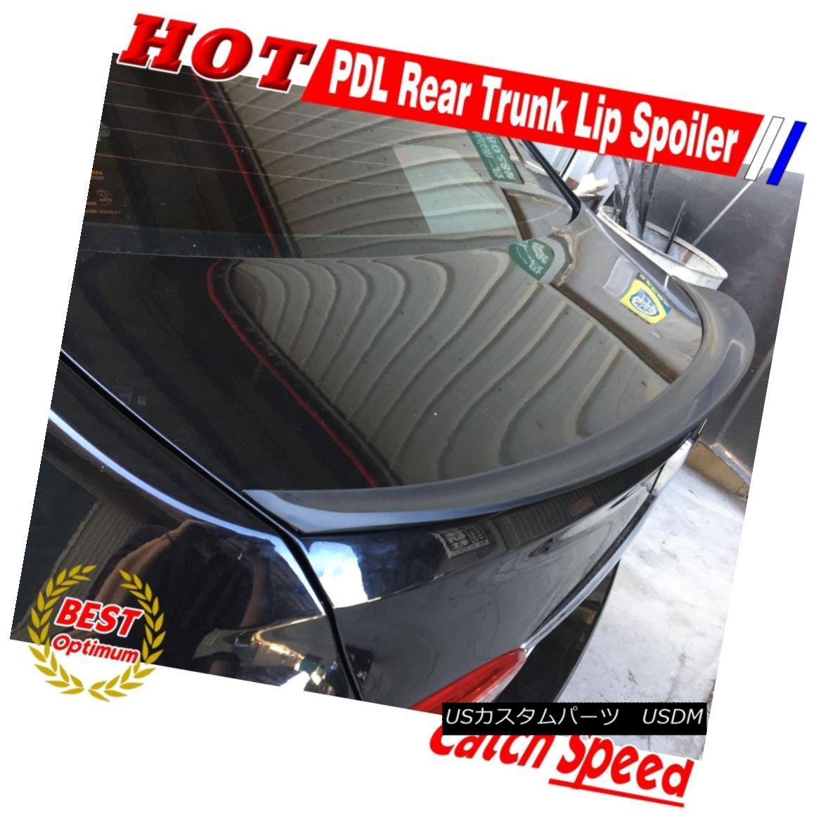 エアロパーツ Flat Black P Type Rear Trunk Lip Spoiler For Hyundai Equus VI Sedan 2011~2016 現代エクウスVIセダン用フラットブラックPタイプリアトランクリップスポイラー2011?2016
