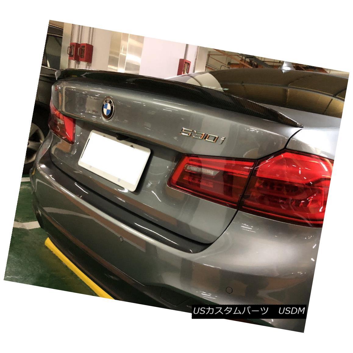 エアロパーツ P Look Carbon Fiber Rear Trunk Spoiler Wing For 2017~18 BMW 5 series G30 Sedan Pルックカーボンファイバーリアトランク・スポイラー・ウイング(2017?18)BMW 5シリーズG30セダン