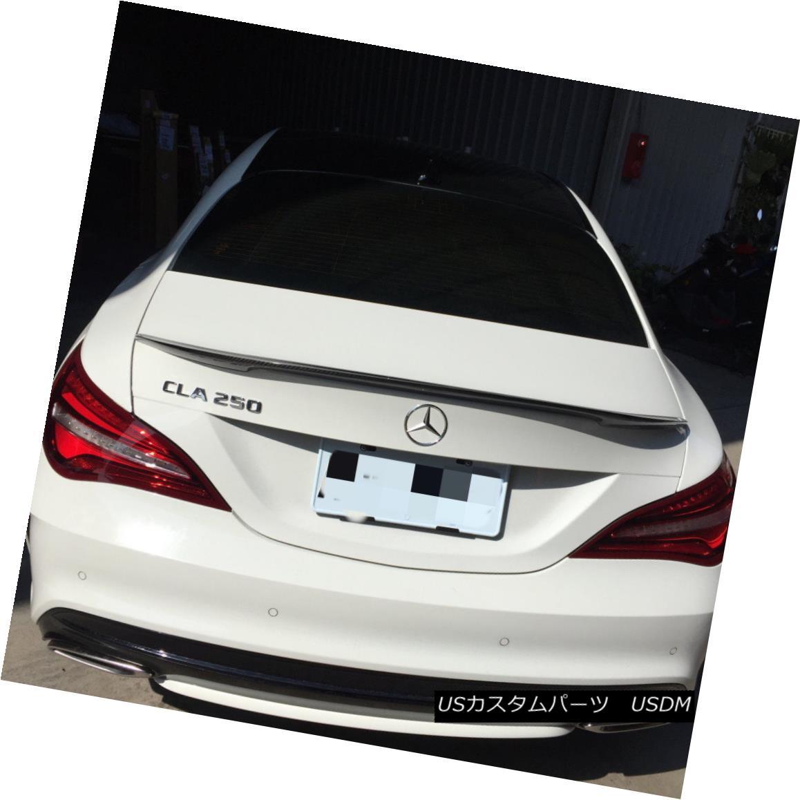 エアロパーツ Carbon Fiber P Look Rear Trunk Spoiler Wing For MercedesBenz 14-18 CLA W117 C117 カーボンファイバーPメルセデスベンツ14-18 CLA W117 C117用リアトランク・スポイラーウイングを見る