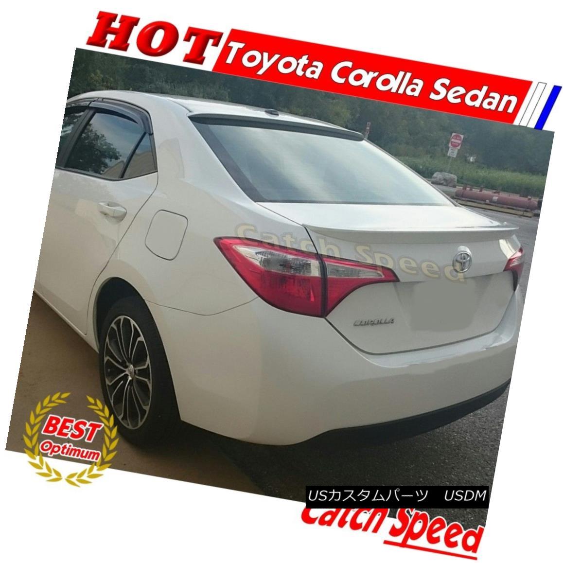 エアロパーツ Painted OE Type Rear Trunk Spoiler For Toyota Corolla 2014-2016 US Sedan トヨタカローラ2014-2016 USセダン用OEタイプリアトランク・スポイラーを塗装