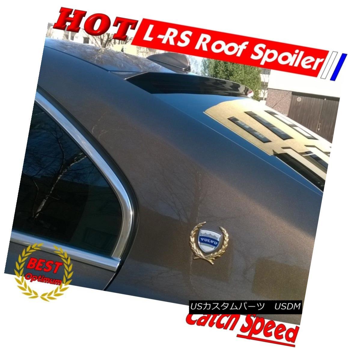 エアロパーツ Flat Black LRS Rear Roof Spoiler Wing For Ford Mustang GT-500 Coupe 2005-14 ? フォードMustang GT - 500クーペ2005-14のフラットブラックLRSリア屋根スポイラーウィング?