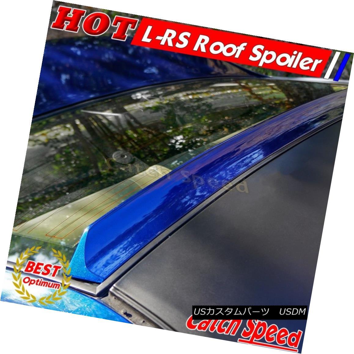 エアロパーツ Flat Black LRS Style Rear Roof Spoiler Wing For EUR Ford Foucs II Sedan 2008-10 EUR Ford Focus II Sedan用フラットブラックLRSスタイルリアルーフスポイラーウイング