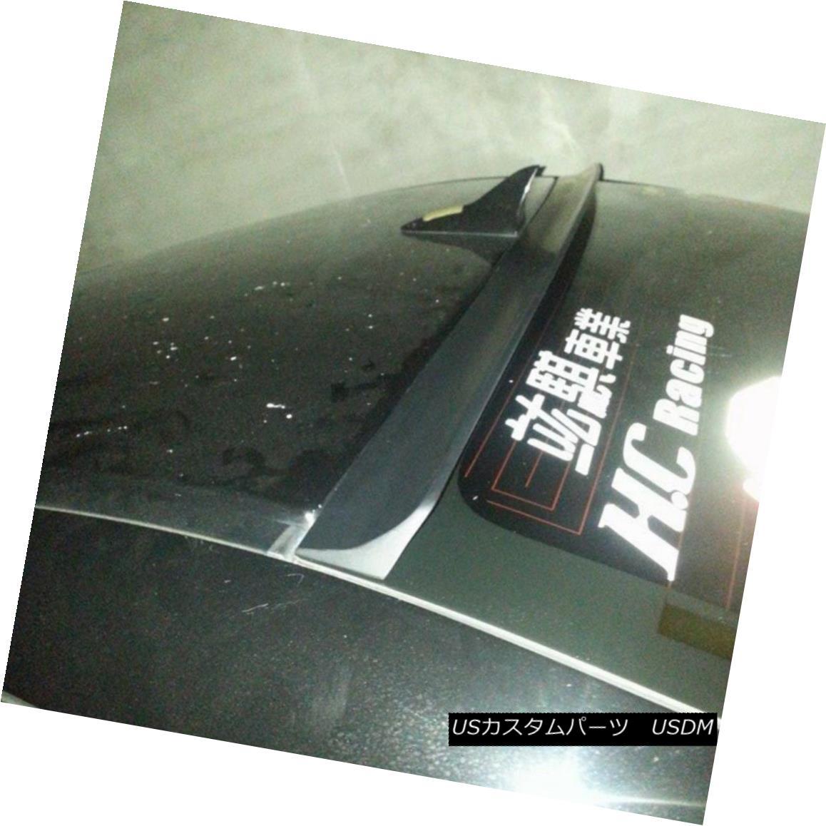エアロパーツ Flat Black L Type Rear Window Roof Spoiler Wing For Acura RLX 2014~16 Sedan New アキュラRLX 2014?16セダン用フラットブラックLタイプリアウインドルーフスポイラーウイング