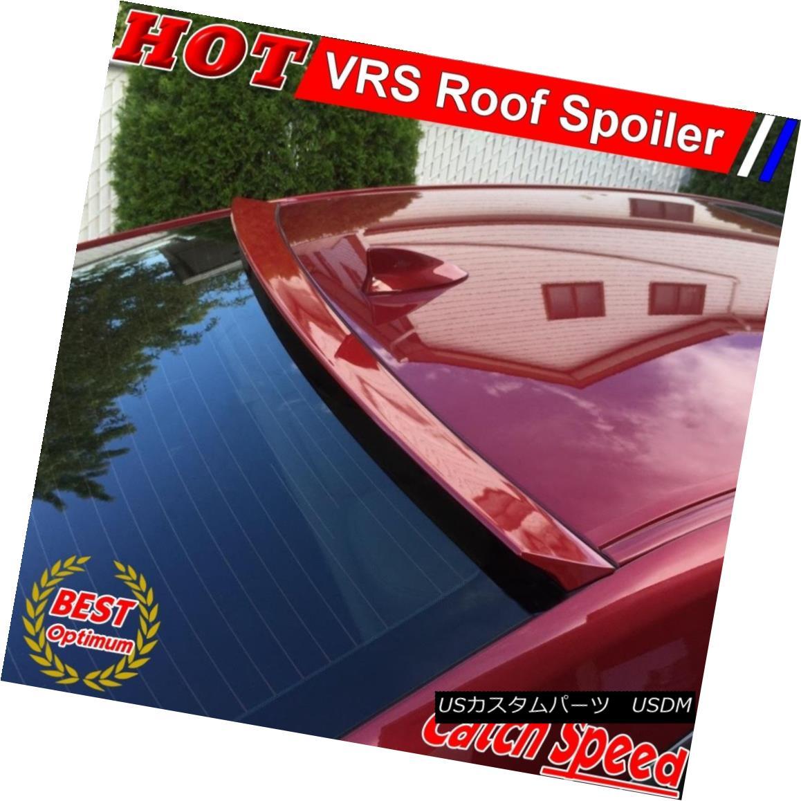 エアロパーツ Flat Black VRS Type Rear Roof Spoiler Wing For NISSAN TIIDA Versa 2004-10 Sedan 日産TIIDA Versa 2004-10セダン用フラットブラックVSタイプリアルーフスポイラーウイング