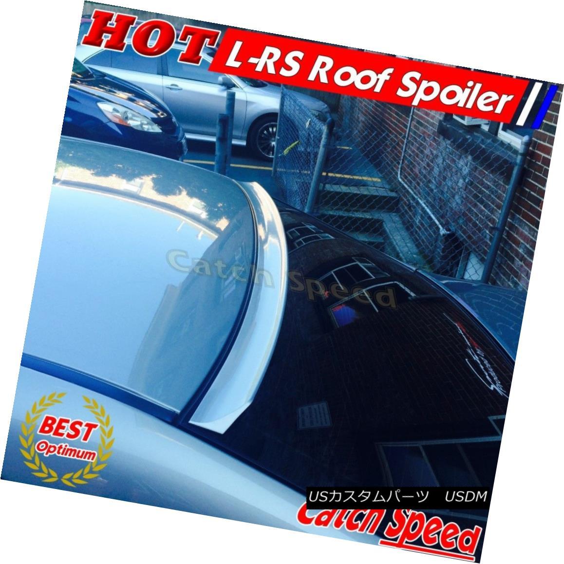 エアロパーツ Flat Black LRS Style Rear Roof Spoiler Wing For Lincoln MKS 2009-2013 Sedan ? リンカーンMKS 2009-2013セダンのフラットブラックLRSスタイルリアルーフスポイラーウィング?
