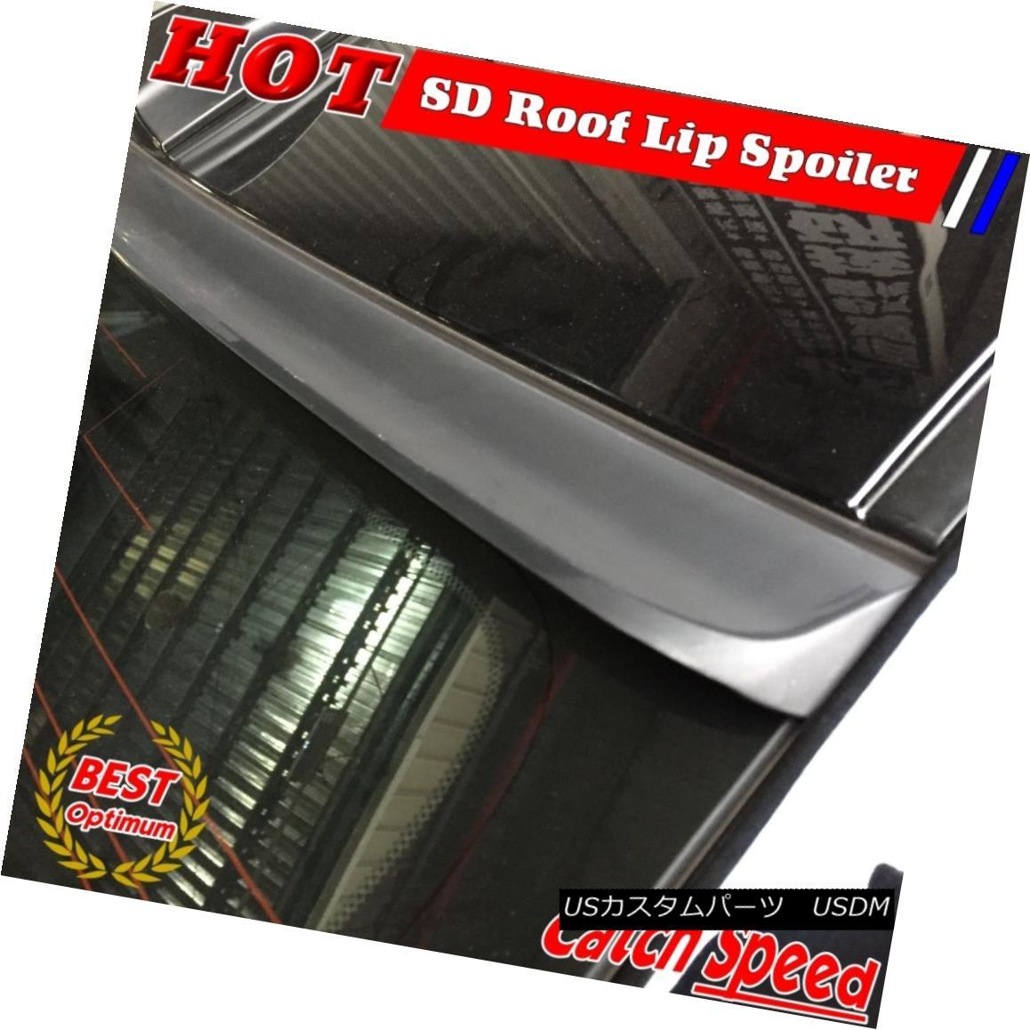 エアロパーツ Flat Black SD Style Rear Roof Spoiler Wing For 2006~2011 Honda Civic EX US Sedan フラットブラックSDスタイルリアルーフスポイラーウィング2006?2011ホンダシビックEX USセダン