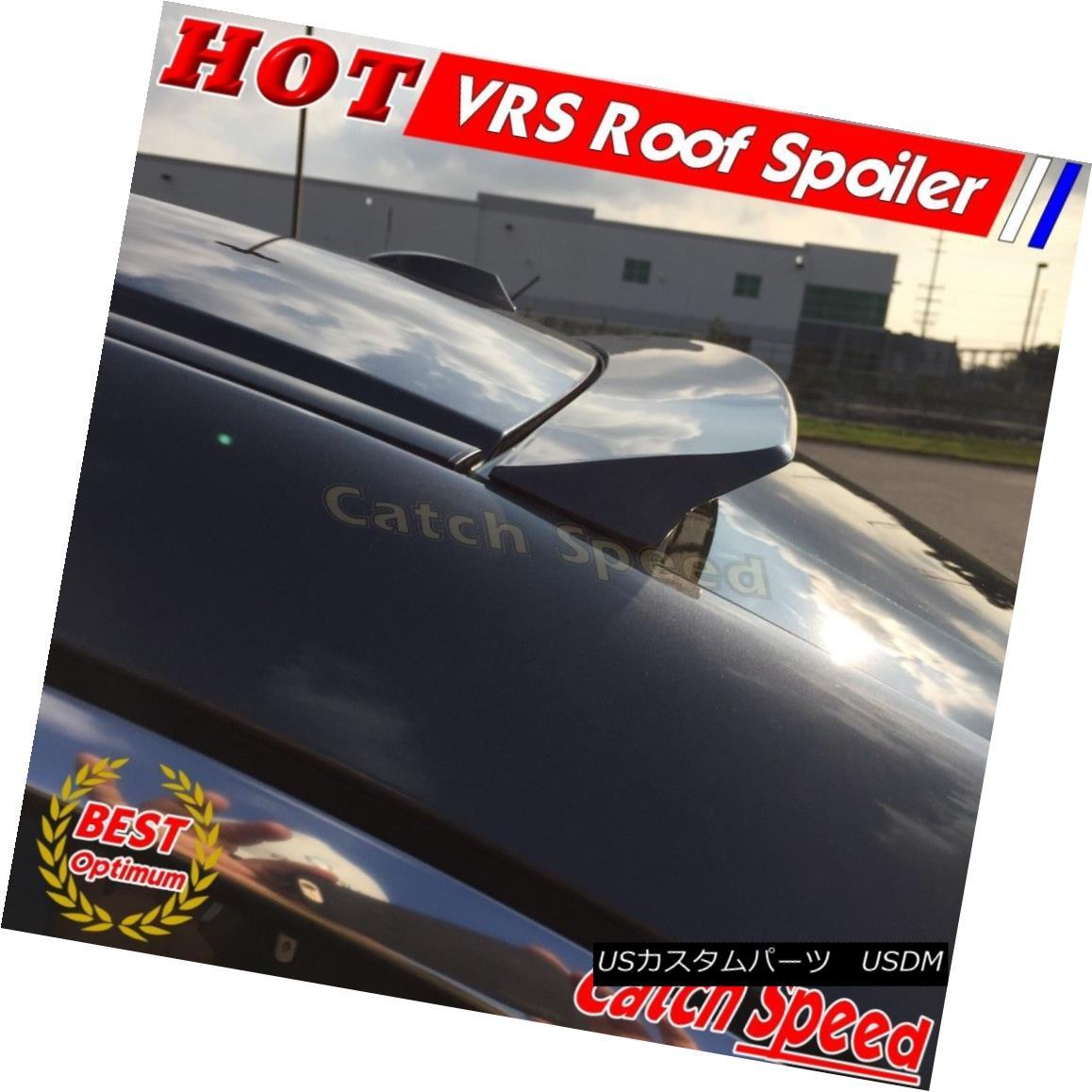 エアロパーツ Flat Black VRS Style Rear Roof Spoiler Wing For Cadillac XTS Sedan 2013-2016 キャデラックXTSセダン2013-2016のフラットブラックVRSスタイルリアルーフスポイラーウイング
